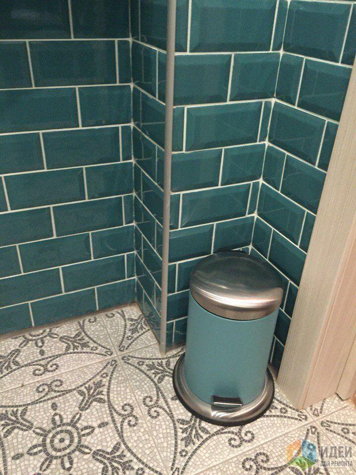 Бирюзовая плитка в ванной