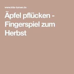 Äpfel pflücken - Fingerspiel zum Herbst