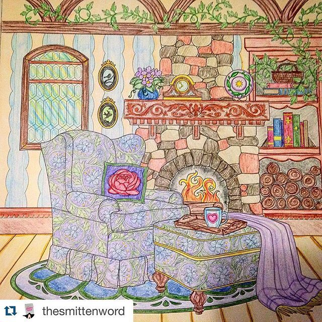 THE WORLD OF DEBBIE MACOMBER: COME HOME TO COLOR shows a snap shot of The Rose Harbor Inn. #adultcoloringbook
