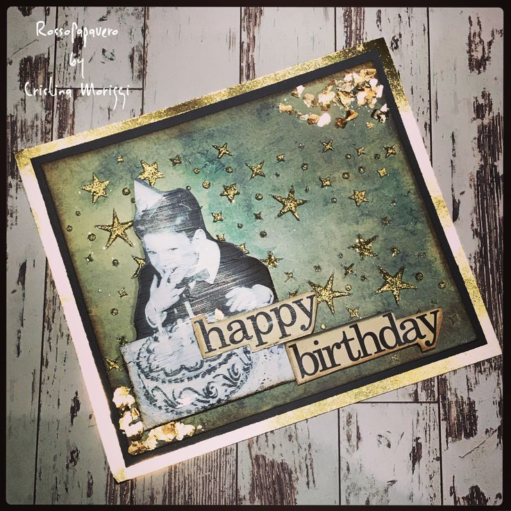 Happy B-Day Card #mix media