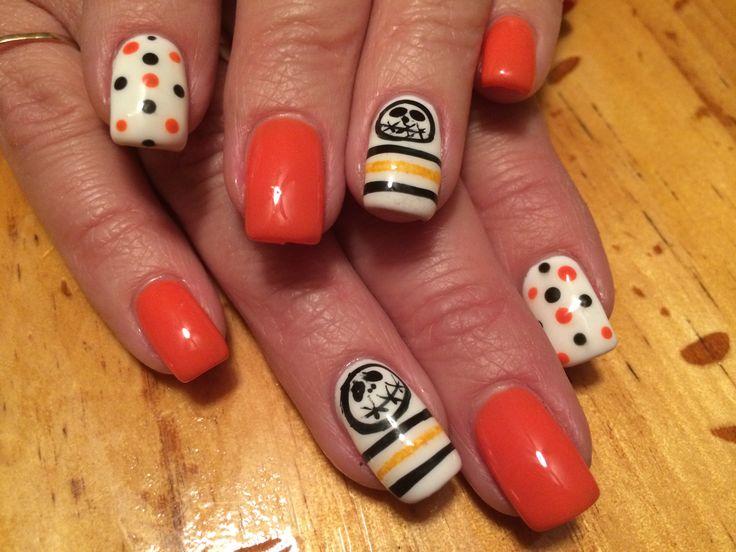 Halloween-Spaß-orange Nagel-Entwurf mit Jack!   – Nail Time!!!