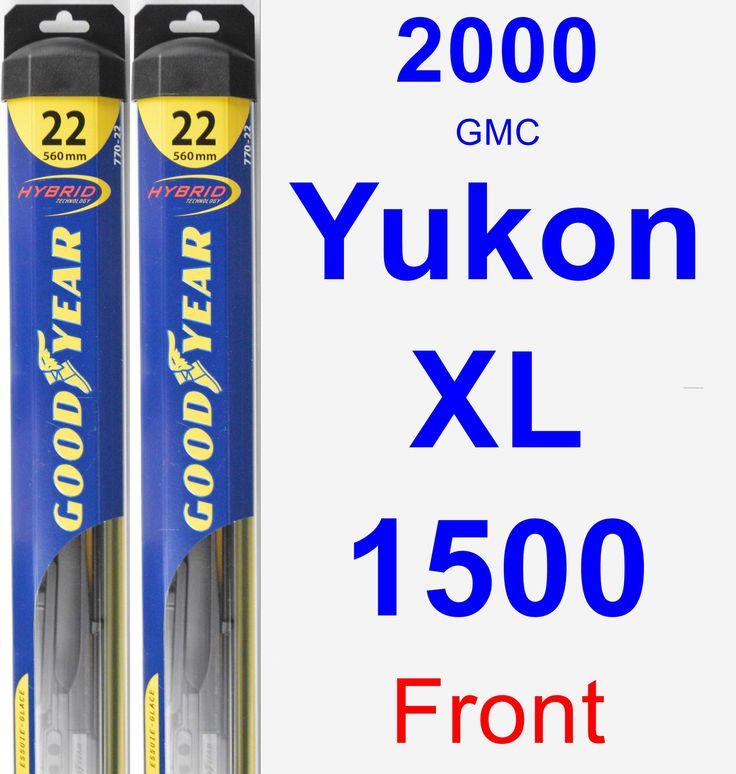 Front Wiper Blade Pack for 2000 GMC Yukon XL 1500 - Hybrid