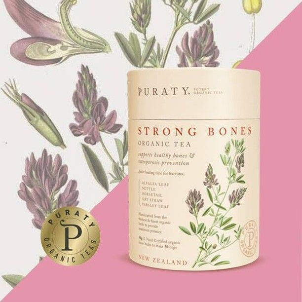 Here's what makes our Strong Bones tea so effective - Alfalfa for iron, Horsetail for silicon, Nettle for calcium, Oat Straw for minerals, and Parsley Leaf for key vitamins, which all play a role in strengthening bones