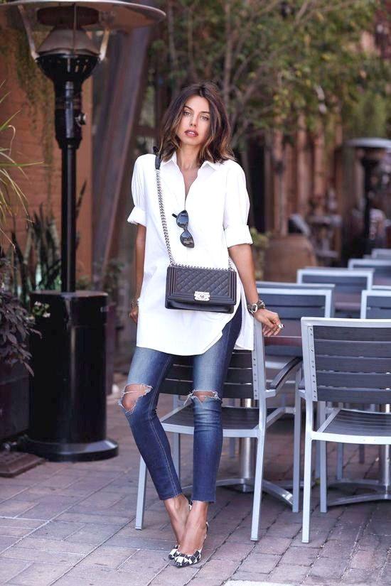 27 zerrissene Jeans-Outfit-Ideen