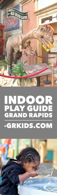 Big list of where kids can play indoors in Grand Rapids, MI. Great for cold, rainy, snowy days in fall and winter.