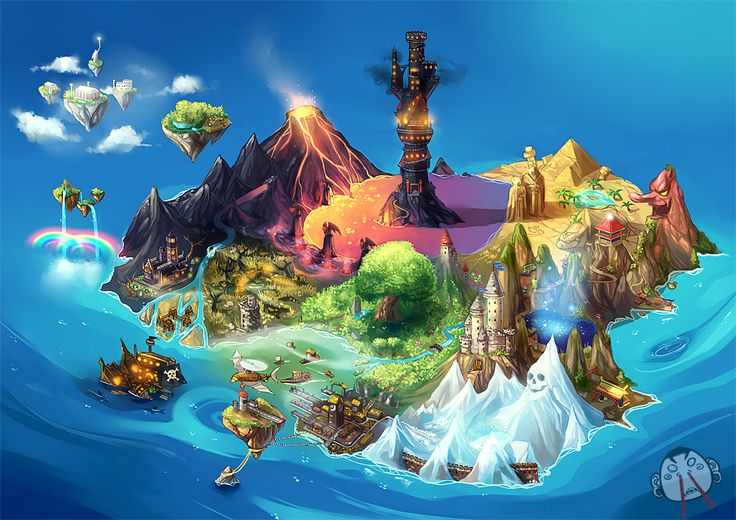 I like the colors used to express the different parts of the island. It would be great to try for this much variation, in our whole game.