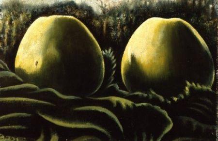 Twee appels in bladeren - Charley Toorop (1891 - 1955)