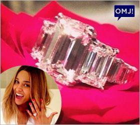 Ciara debuts 15-carat emerald cut engagement ring