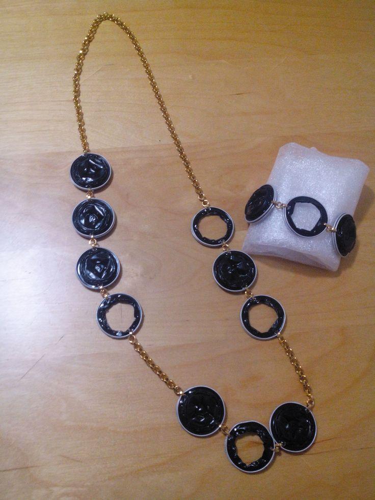 hakuna:collana e bracciale con capsule nespresso