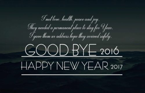 Here good bye 2016 welcome 2017 wishes and quotes for friends family are given.These happy new year 2017 welcome status messages and greeting with images are best to say hello to the new year 2017.