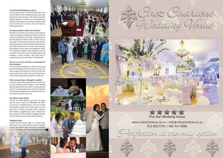 Chez Charlene 5 Star Wedding Venue - Pretoria East - Gauteng - www.chezcharlene.co.za - Real Brides April 2017