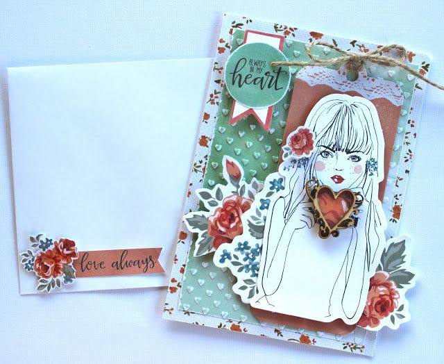 Kaisercraft Boho Dreams - Always in my Heart Card