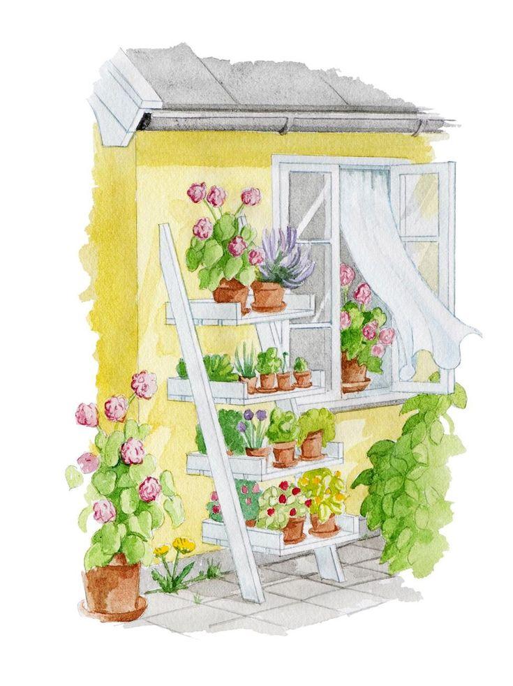 Snickra en stege till blommorna – Hus & Hem