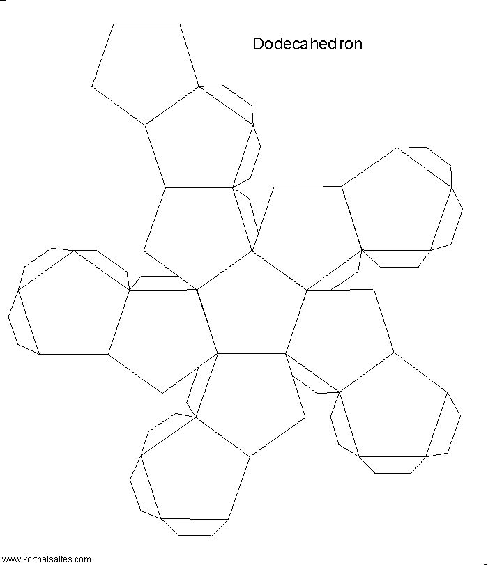 Paper Models of Polyhedra  Polyhedra are beautiful 3-D geometrical figures that have fascinated philosophers, mathematicians and artists for millennia. On this site are a few hundred paper models available for free.   http://www.korthalsaltes.com/
