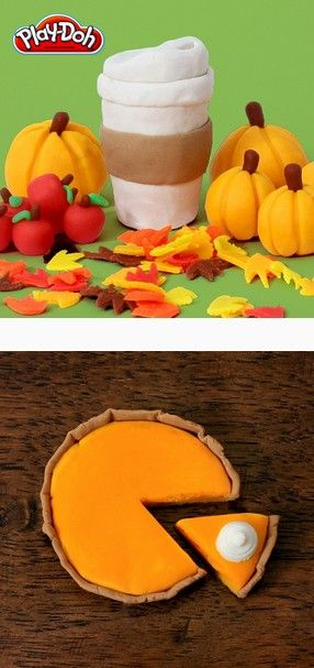 Play-Doh Fall Creations #ad