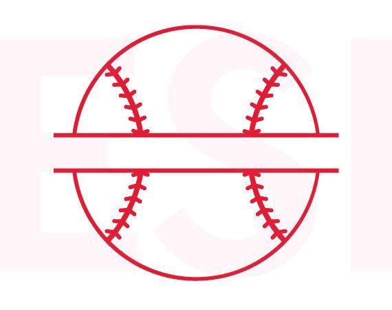 Baseball Svg Baseball Split Monogram Svg Dxf Eps Svg