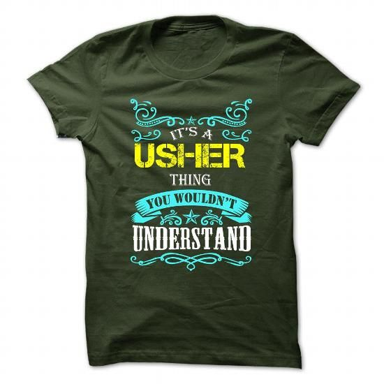 USHER T Shirts, Hoodies. Get it now ==► https://www.sunfrog.com/Camping/USHER-109594991-Guys.html?41382
