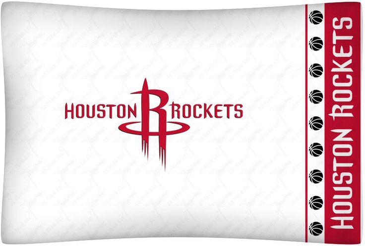 Houston Rockets NBA Sports Coverage Team Color Standard Pillowcase Logo #SportsCoverage