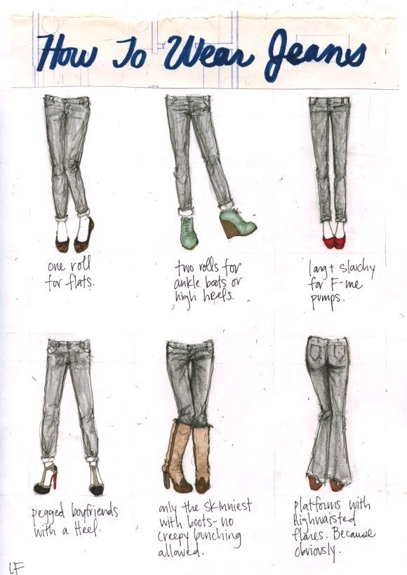howtowearjeans Jean and shoe matching, made easy