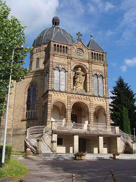 Basilique notre dame de bon secours de saint avold lieu for Piscine de saint avold