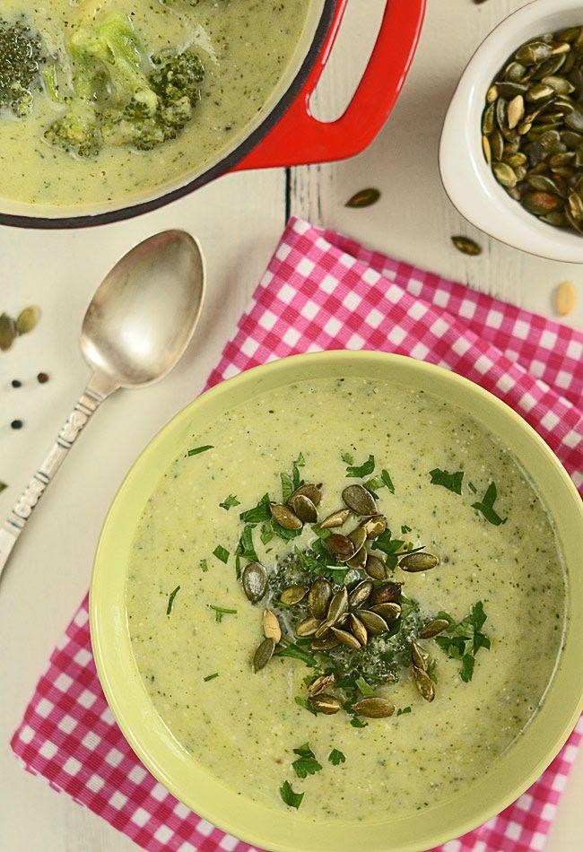 Zupa podwójnie brokułowa (prawie fit)