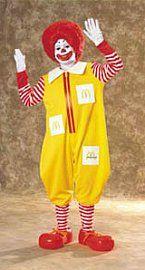 Childrens Ronald McDonald Costume
