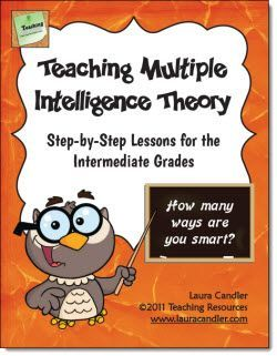 Teaching Multiple Intelligence Theory: Step-by-step Lessons for the Intermediate Grades - This 66-page ebook includes complete lesson plans, a student survey, printables, assessments, and answer keys for teaching a unit on multiple intelligence theory. Designed for upper elementary or middle school students.$
