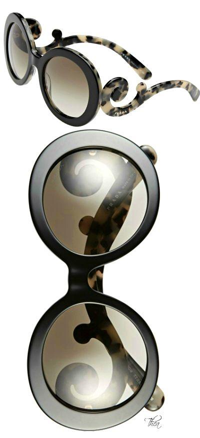 Prada ● Baroque 55mm Round Sunglasses https://tmblr.co/ZsHPtc2Pa3s0F