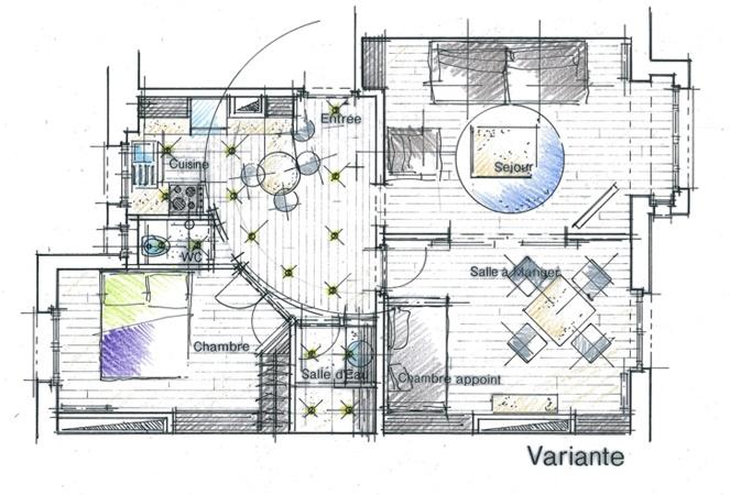 Plan d 39 avant projet sommaire permettant de visualiser une for Plan architecte interieur