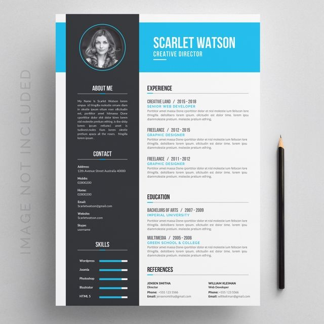 Creative Resume Template Resume Design Template Resume Design