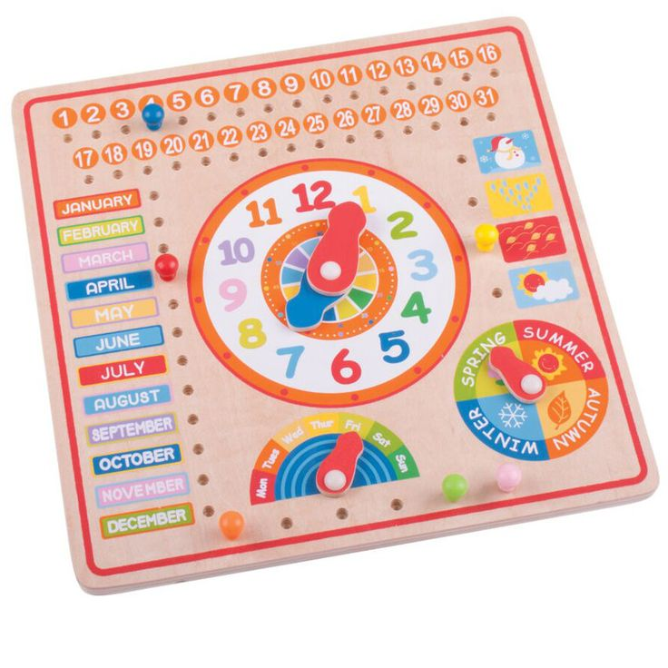 Calendar & Clock Peg Board | Comfy Baby Collections Ltd