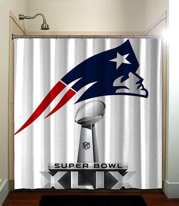 New England Patriots Shower Curtain Bathroom Home Decor