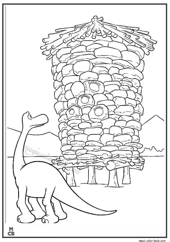 Good Dinosaur Coloring Pages free printable 40 | Libro de ...