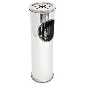 Cendrier sur pied avec poubelle Inox 57 cm