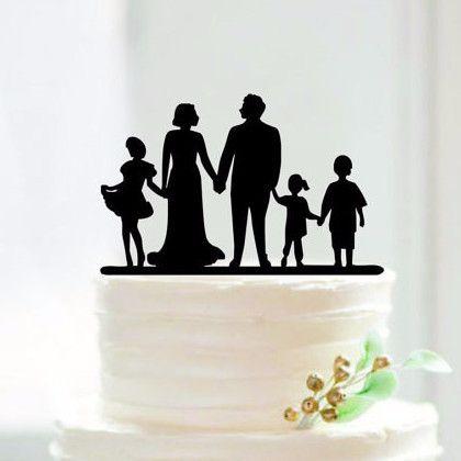 Engagement Wedding Cake Topper Children Son Daughter Family Members
