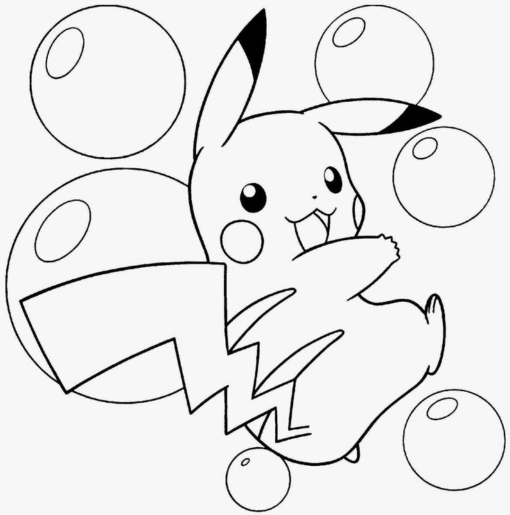 Pikachu Buubles Pokemon Pikachu Bubbles Coloring Pages