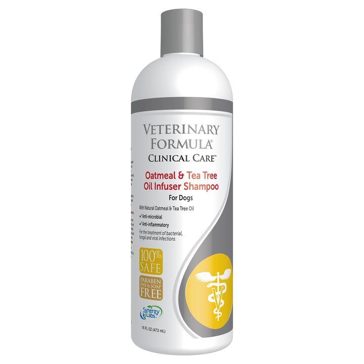 Veterinary Formula Clinical Care Oatmeal & Tea Tree Oil Infuser Pet Shampoo - 16 oz, Black