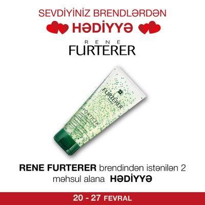 Rene Furterer brendindən 2 məhsul alana Forticea #şampunu #hədiyyə