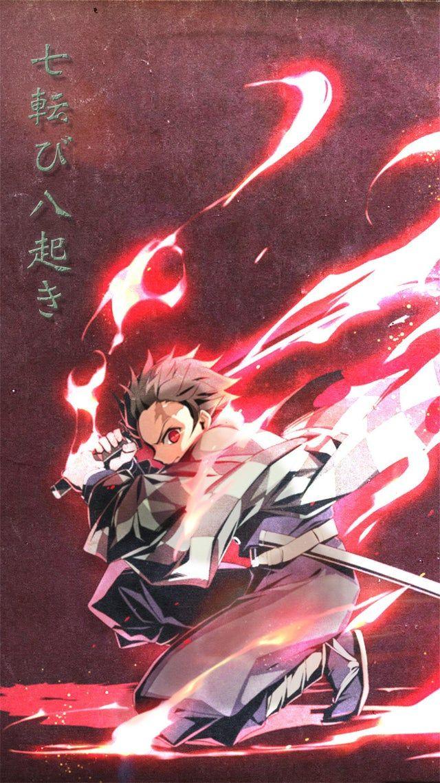 A Tanjiro Wallpaper I Made Demonslayeranime Anime Demon Anime Wallpaper Cool Anime Pictures