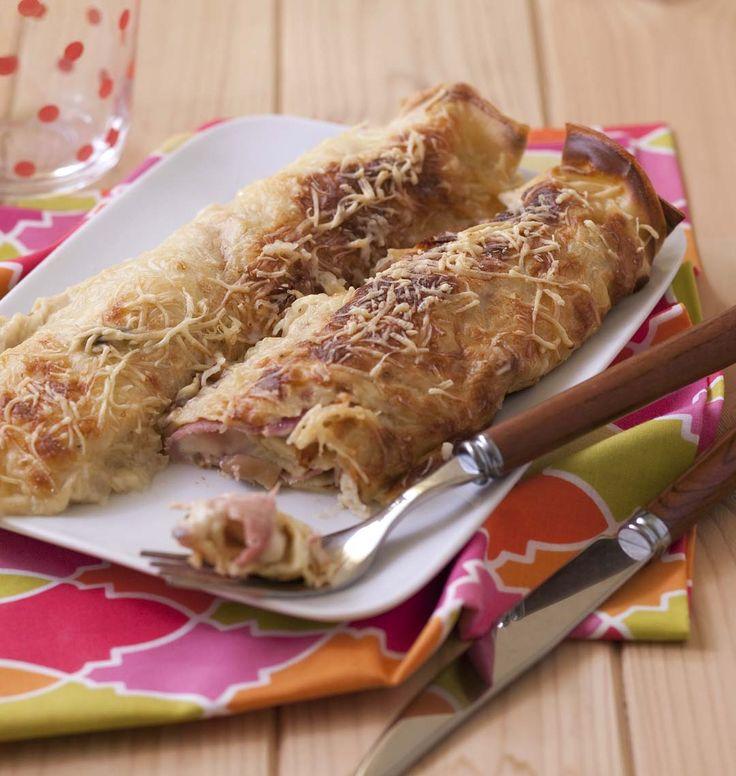 Crêpes farcies au jambon, champignons et béchamel, la recette d'Ôdélices : retrouvez les ingrédients, la préparation, des recettes similaires et des photos qui donnent envie !