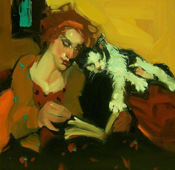 ✉ Biblio Beauties ✉ paintings of women reading letters & books - Kim Roberti