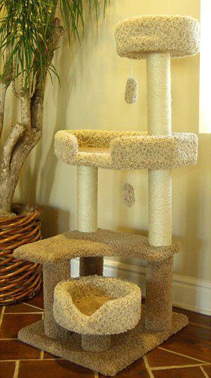 Tall cat tree scratching post #treecondo - Understanding your cat better at - Catsincare.com!