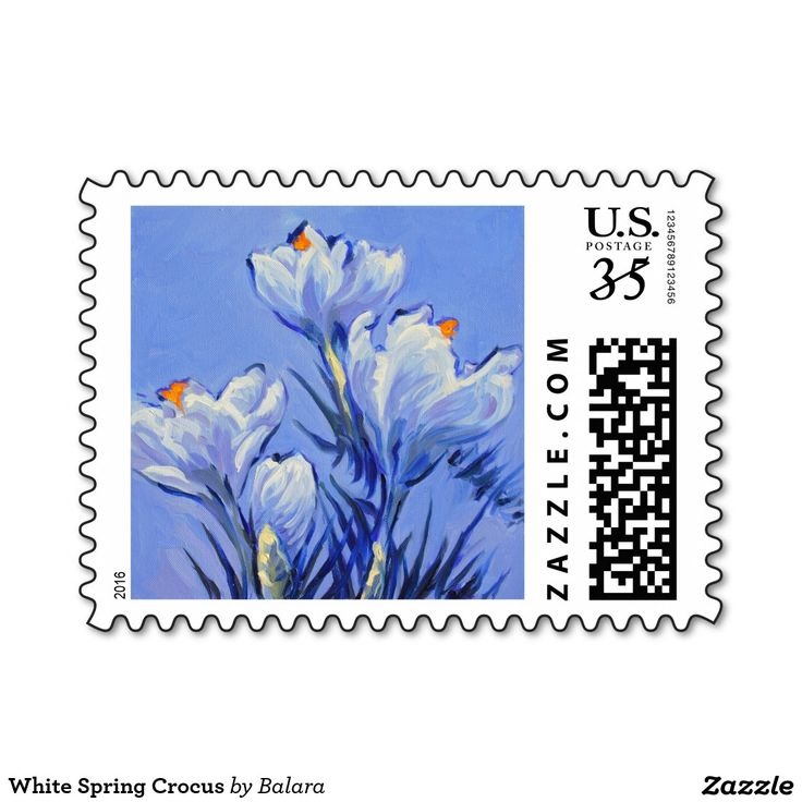 White Spring Crocus Stamp