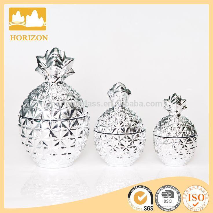 Новинка ручной цветной ананас форма стеклянная банка-Бутылки и банки для хранения-ID товара::60329502929-russian.alibaba.com