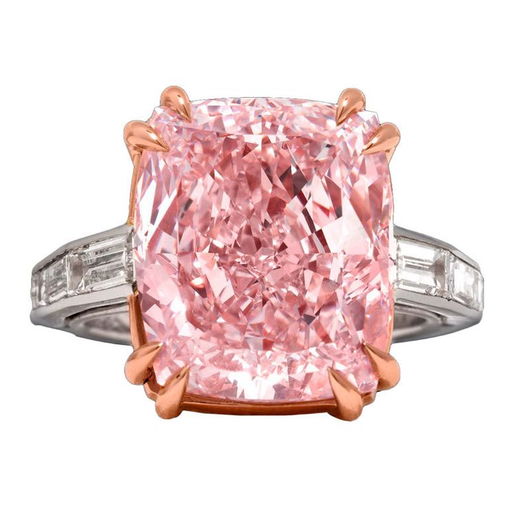 The Rarest Pink Diamond Ring on the market today. Love it! It's a 12.27 Carat Natural Fancy Pink Diamond, type IIa w/ WSI clarity, worthy of royalty. On the market for 7.8 Million (and they'll get that, when the right buyer comes along). Crazeee Beautiful!  1stDibs
