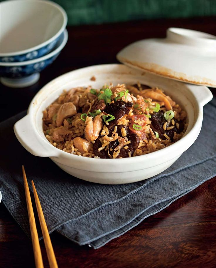 Claypot chicken and mushroom rice by Billy Law from Have You Eaten? | Cooked