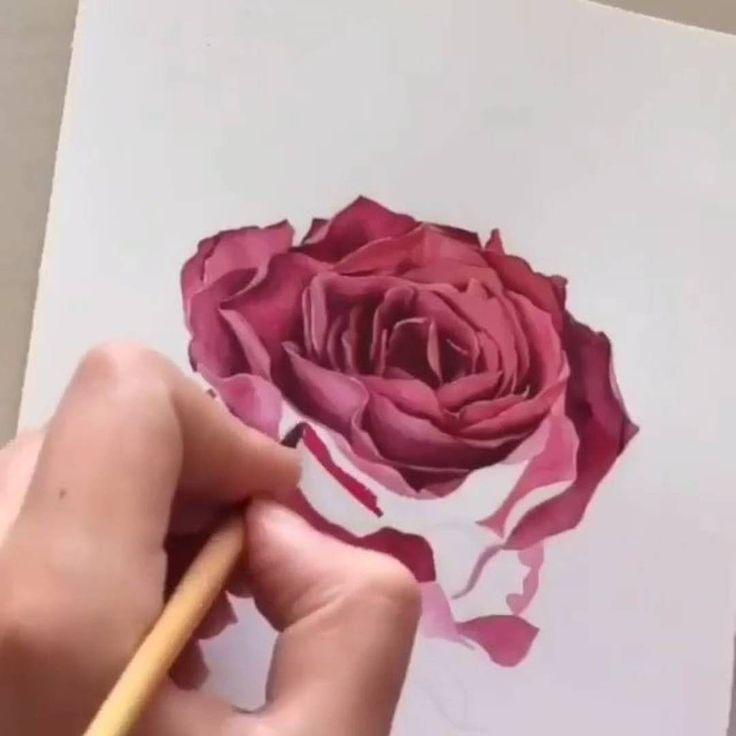 Visitez le site pour voir la réalisation de cette rose en vidéo... !
