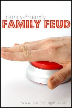 Family-Friendly Family Feud from Let's Get Together-includes instructions and ready-to-print list of questions and answers! Great for a FHE or a youth activity. www.lets-get-together.com #familyfeud #familygames #fhe #lds
