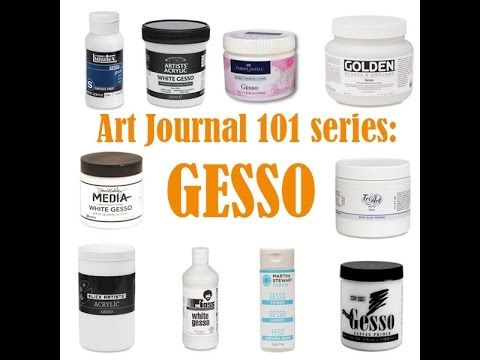 THE most comprehensive tutorial about Gesso and how to use it. EXCELLENT. (M) Art Journaling 101 Series - Gesso - Clips-n-Cuts
