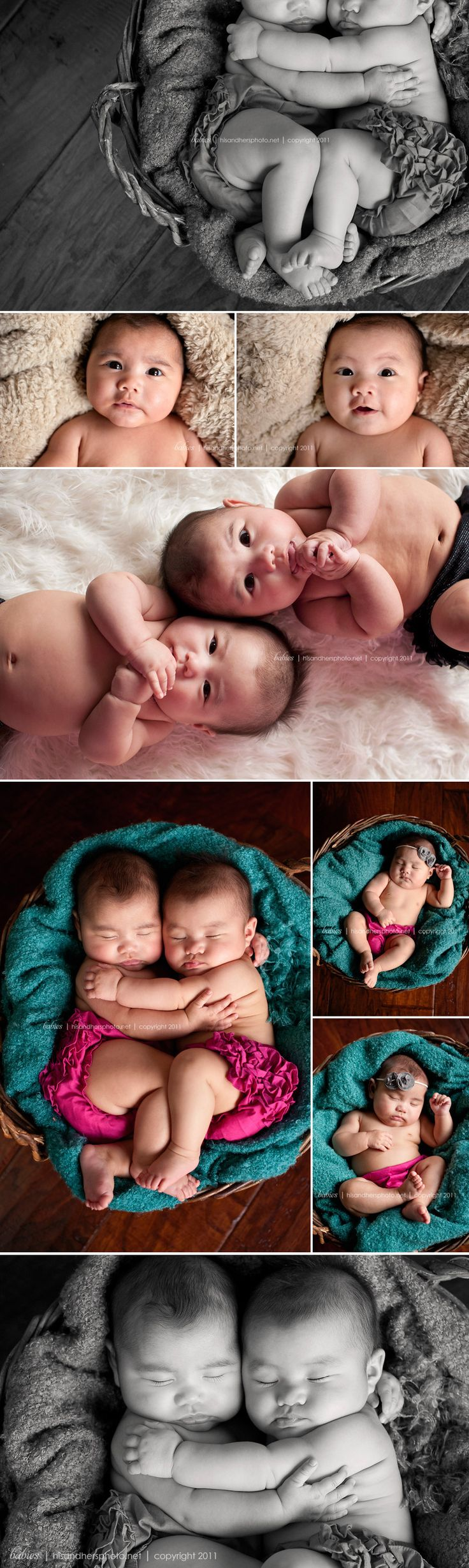 Seriously the cutest pics!  Would love to do something like this with baby twins!